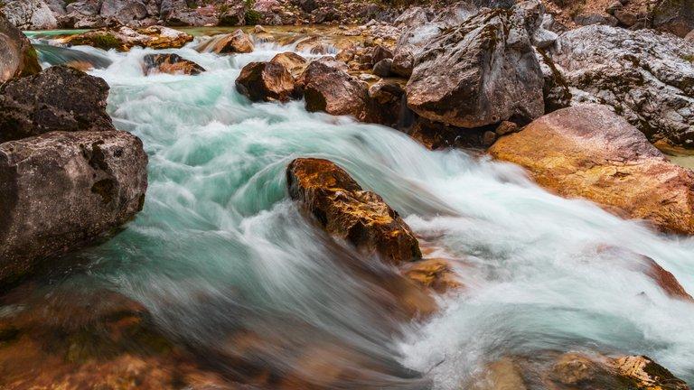 The Emerald Green Soča River in Slovenia