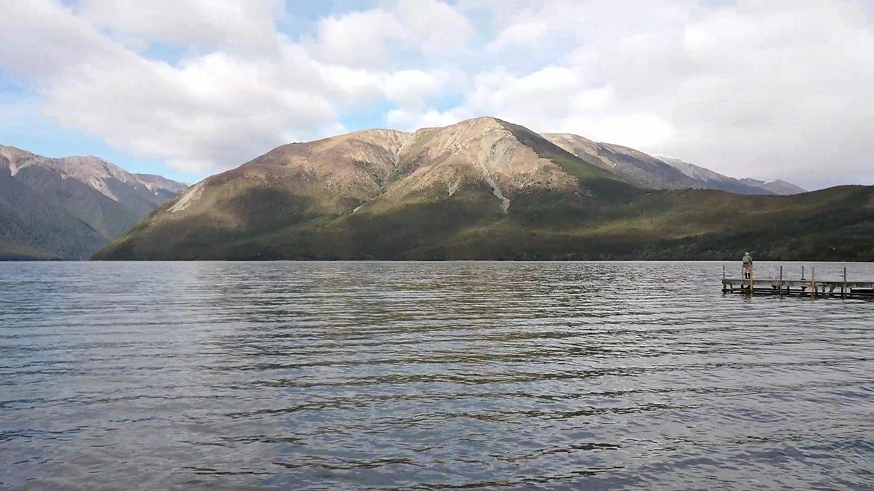 West Bay Fisherman at Lake Rotoiti