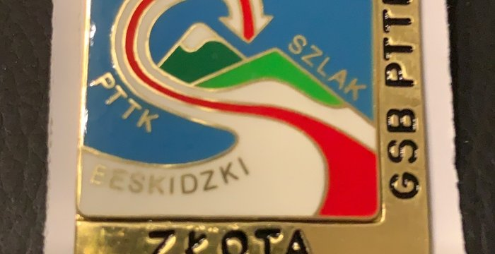 Złota odznaka GSB PTTK.