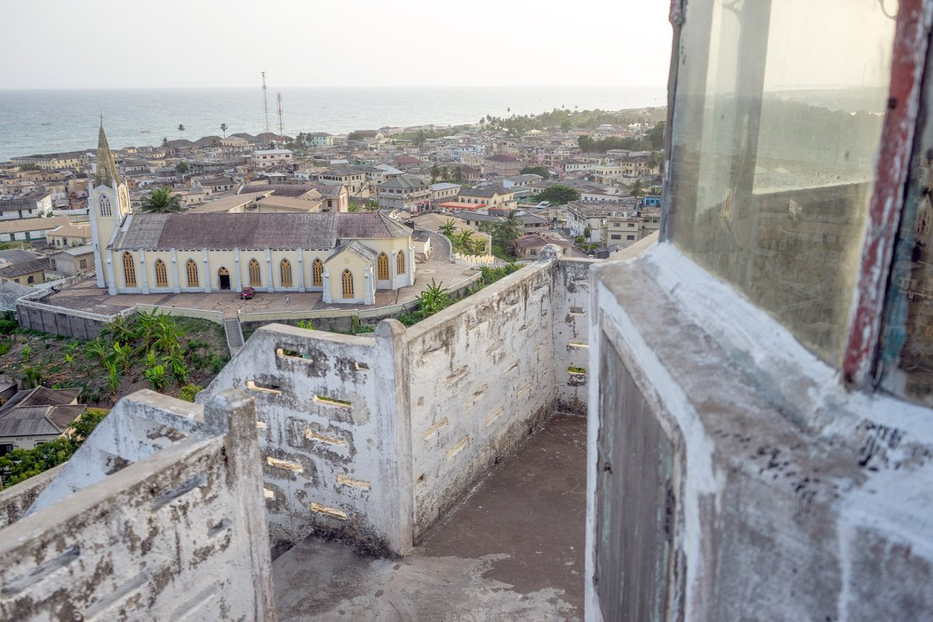 Overlooking Cape Coast From The Lighthouse