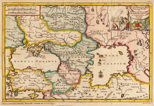 The map of the Crimean Khanate by Pieter van der Aa, 1707. (Source: Wikipedia)