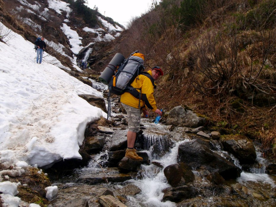We take water from a mountain stream