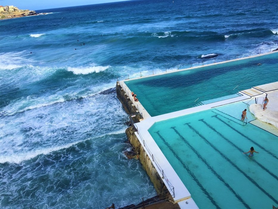 Bondi Icebergs Pool from above