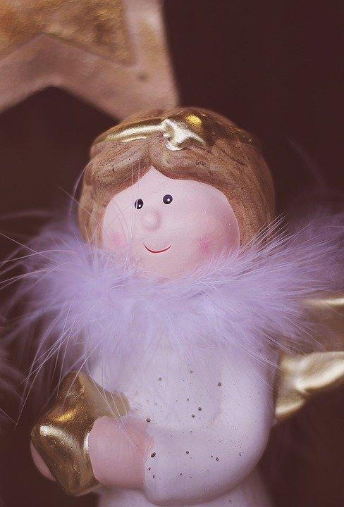 Angel, Figura, Navidad, Adviento, Estrella, Corazón