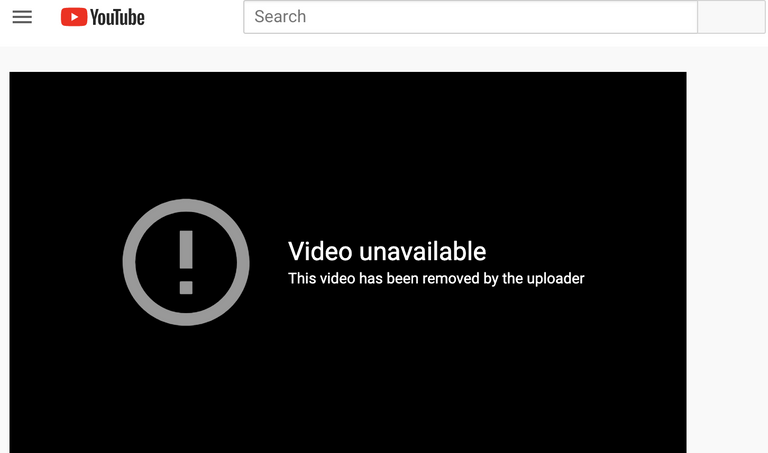 This video has been removed by the uploader - YouTube