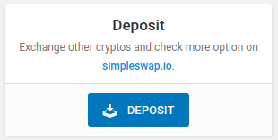 Easy access to the new Deposit panel