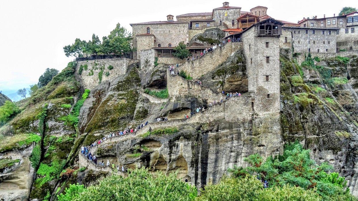 Tourists are flood the monastery