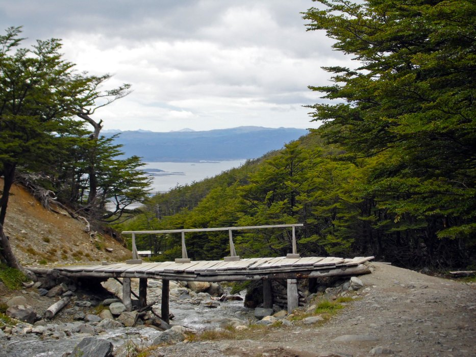 Going up Cerro Martial