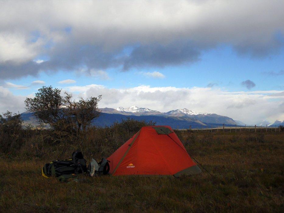 Improvised camping spot