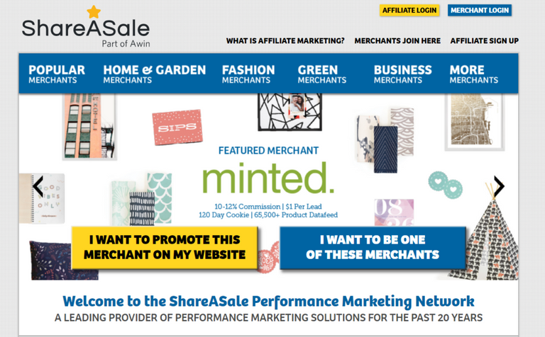 Affiliate marketing shareasale