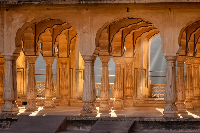 Sunrise in Amer Fort, India