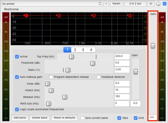 Increase track volume using a compressor