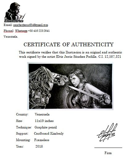 CERTIFICADO DE AUTENTICIDAD. Modelo Depredador Vs Mujer Maravilla 1.jpg