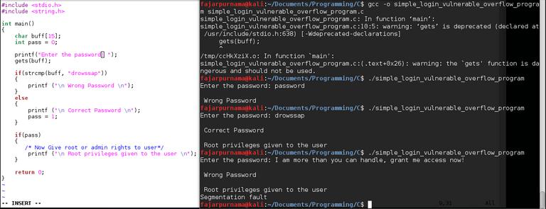 Figure 5. Simple Login Buffer Overflow Demonstration in C programming.png