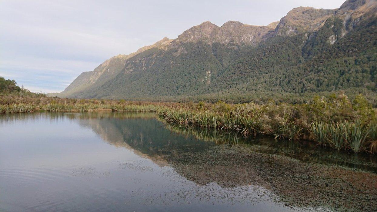 Views overlooking the Mirror Lake