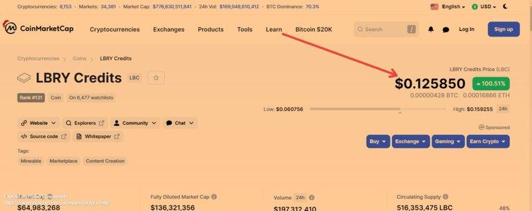 Screenshot of LBRY Credits price today, LBC marketcap, chart, and info _ CoinMarketCap.jpg