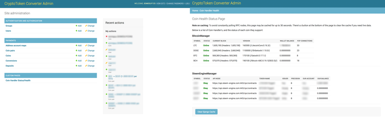 Screenshot of Admin Panel