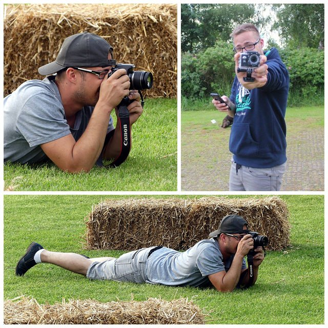 me in action do photography