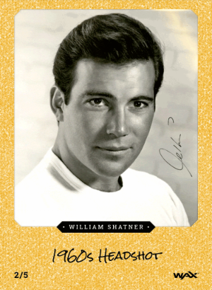 Young Shatner on a Golden Card