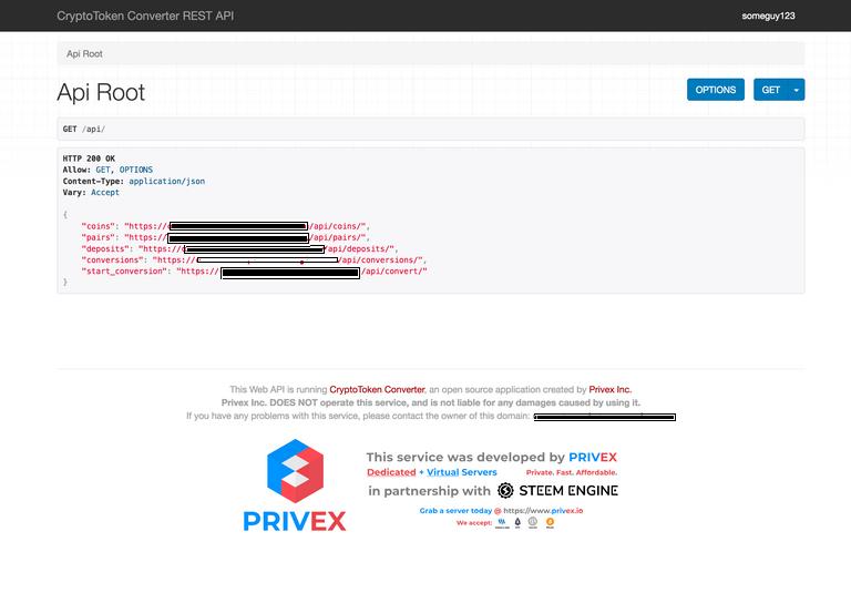 Screenshot of REST API Browser