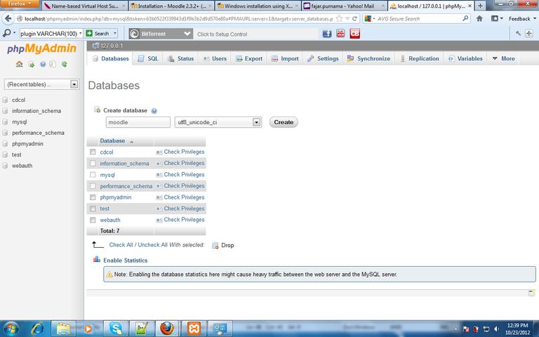 Figure 3. adding moodle's database.png