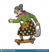 vieja-monta-sobre-el-vector-del-skateboard-abuela-anciana-en-sketch-grabando-ilustración-vectorial-diseño-de-la-estampilla-170822741.jpg