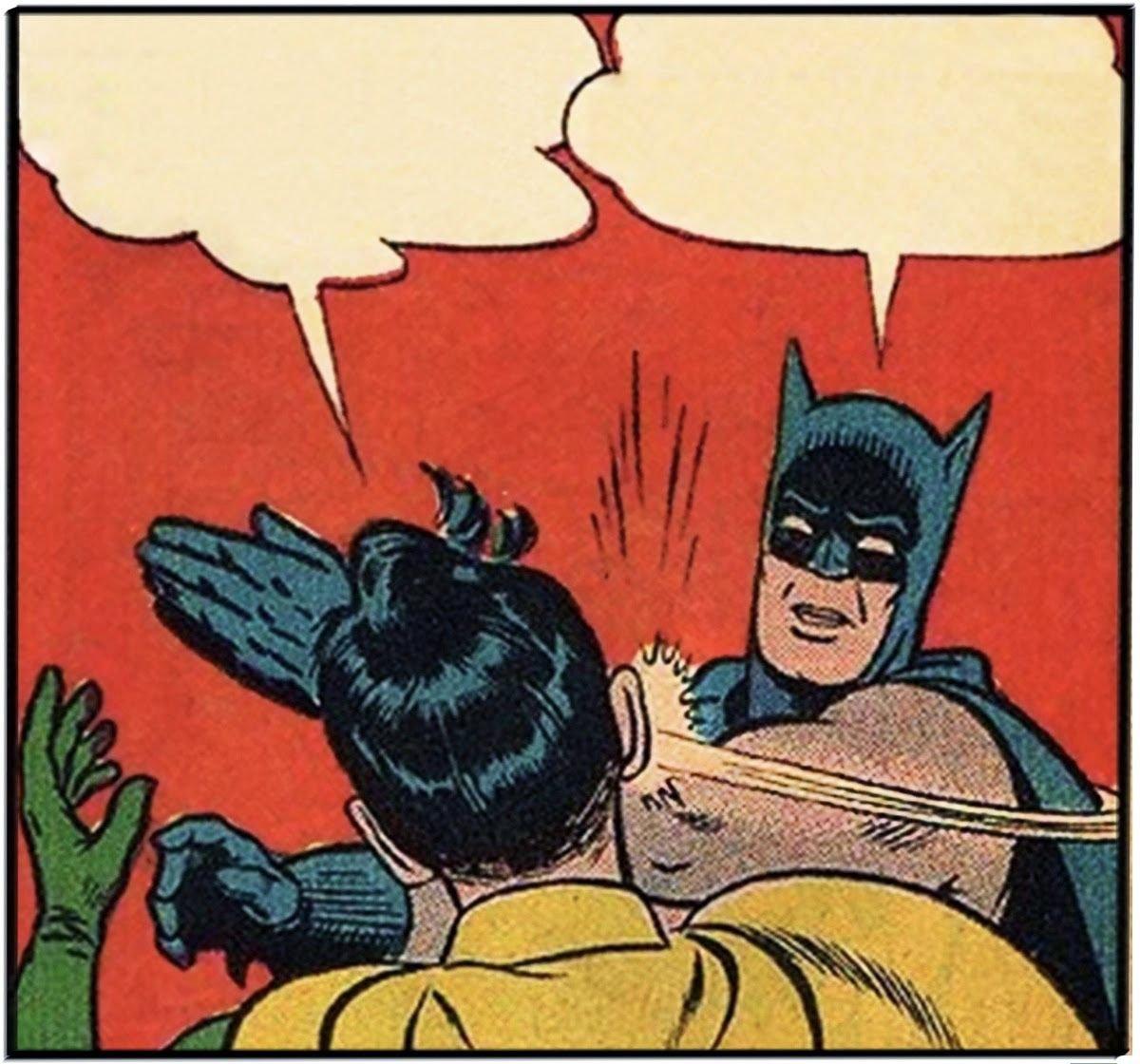 MemeHive Contest: Meme Batman Slapping Robin (1st Prize 5 HIVE)