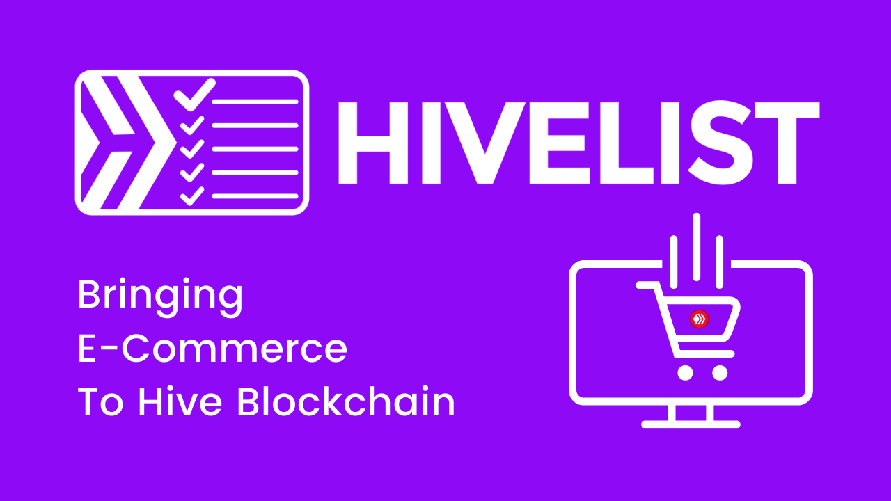 Welcome To 'eCommerce' On Hive Blockchain! #HiveCommerce101