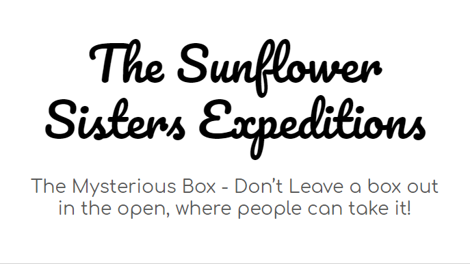 the sunflower sister's expeditions - mysterious box title.png