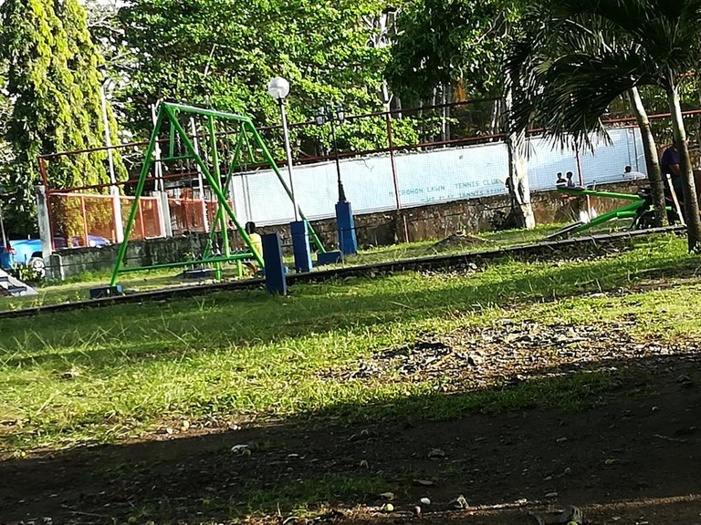 playground of the park and tennis court