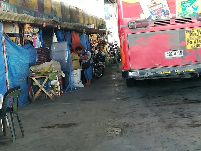 vendors inside the terminal