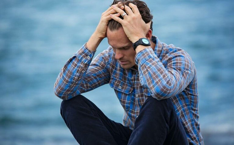 Man suffering from lack of time