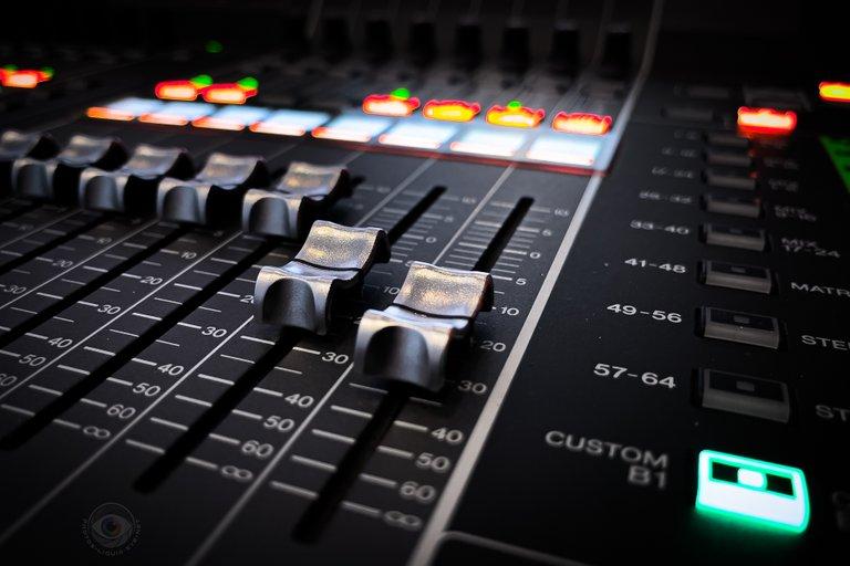 Sound Desk Closeup