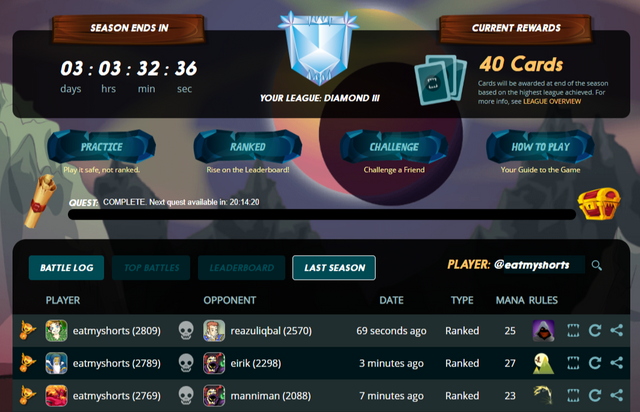 1.eatmyshorts on a roll - diamond league unlocked with level 4 summoners.png