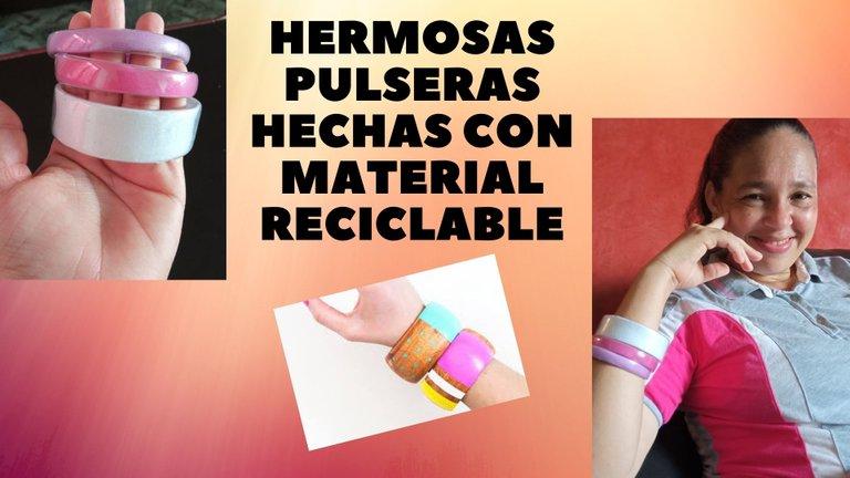 Hermosas pulseras hechas con material reciclable.jpg