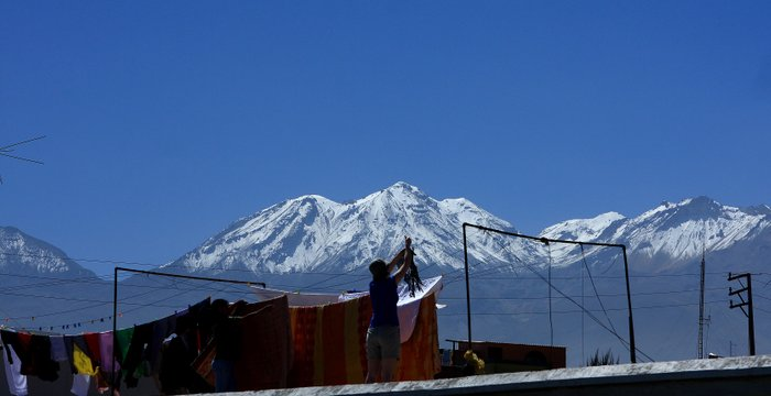 Travel blog Peru Arequipa, Misti volcano through the Andes mountains Salinas height lands!