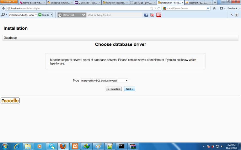 Figure 7. moodle installation choose database driver.png