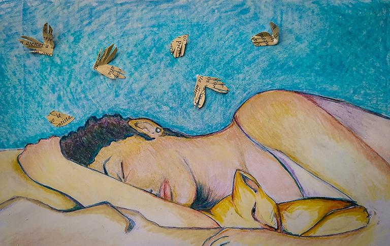 Retrato de muchacha dormida con gato.png