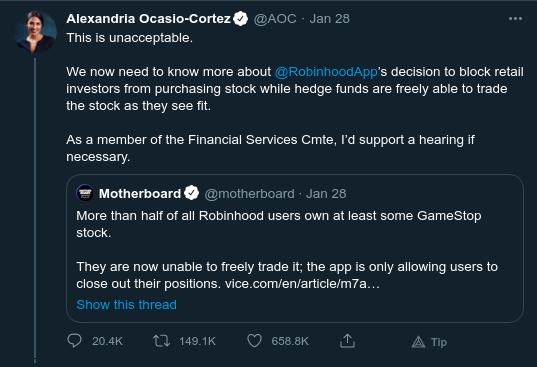 AOC on Twitter