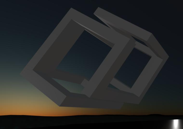 VR Logo at sunset