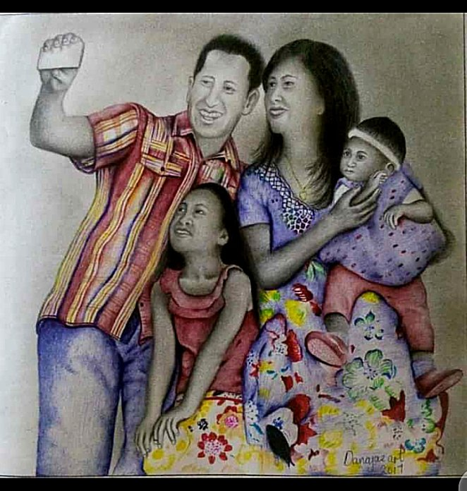 My drawing of a beautiful family.