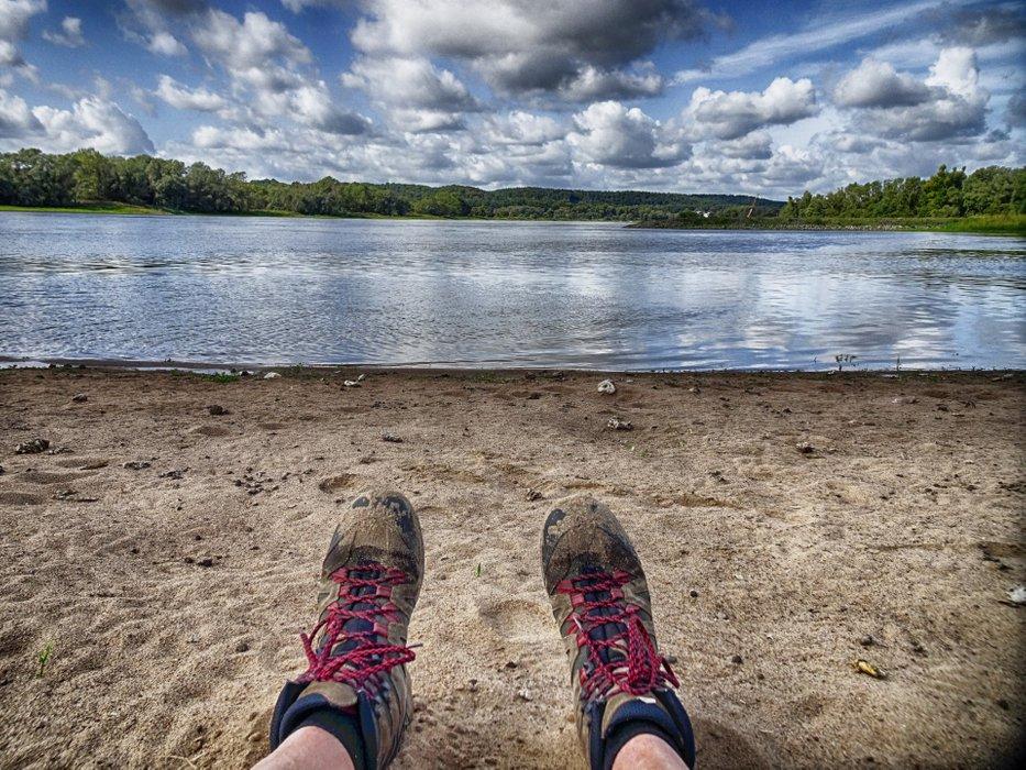 Take a break at the river shore.