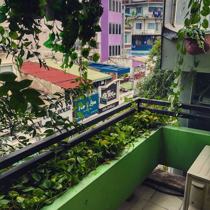 View from my apartment at the bottom of Bui Vien Street