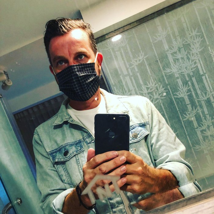 Ready for a night out in Vietnam ( the mask was for air pollution)