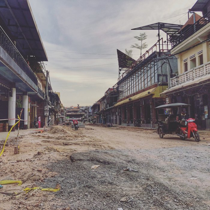 The current state of Pub Street, One of the busiest party areas in Siem Reap