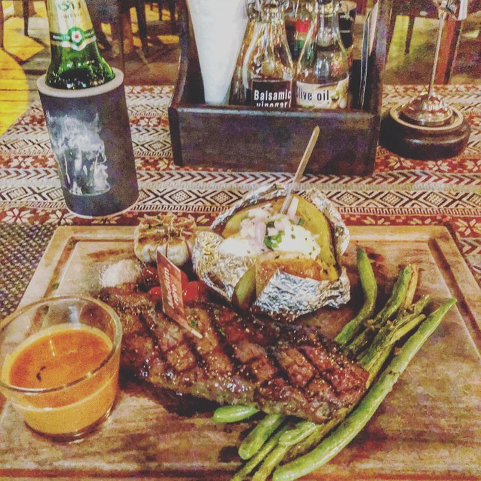 Try the strip steak at Outlaws Saloon in Koh Phangan