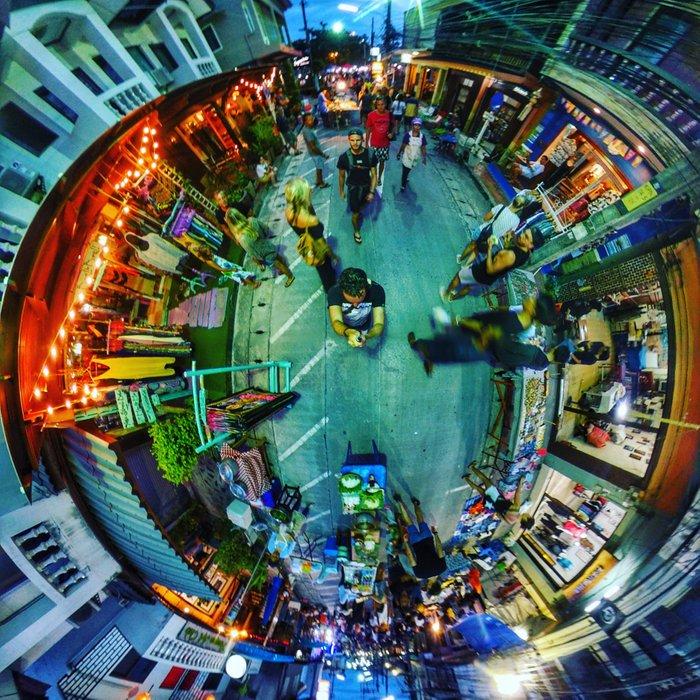 Thong Sala Night Market in 360