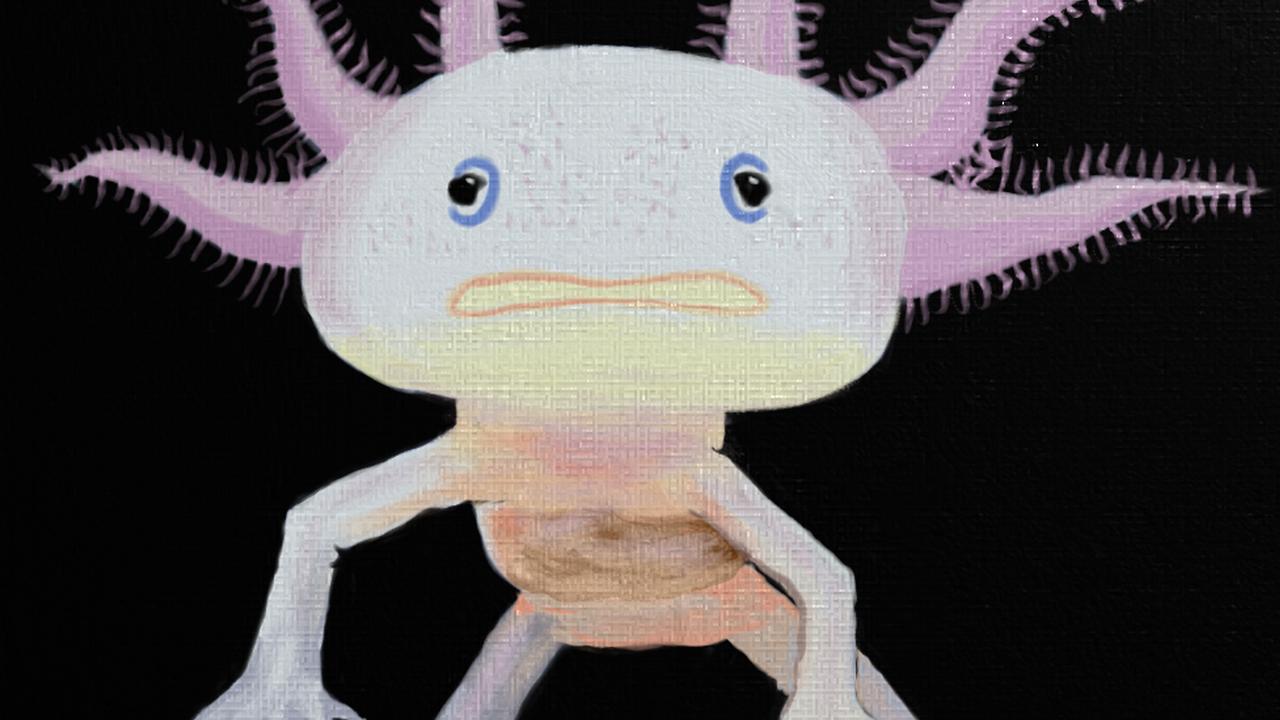 Axolotl - Time Lapse #paintingvr with Original Music