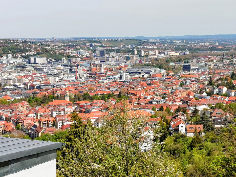 On the top of Stuttgart, one of the best viewing points....
