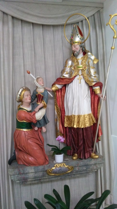 Statue of the oly St. Blasius
